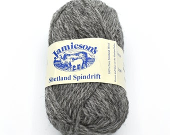 Grey Yarn - Heather Yarn - Jamiesons of Shetland - Yarn for Sale - Fair Isle - Yarn Destash - Knitting Wool - Shetland Wool - Yarn for Shawl