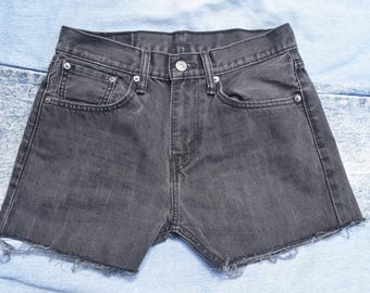 Black Levi's Cutoff Shorts