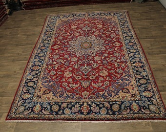 Traditional Rare Size Najafabad Isfahan Persian Rug Oriental Area Carpet 8X13
