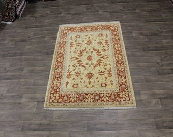 Magnificent Gold Tabriz Persian Natural Wool Oriental Area Rugs Carpet Sale 5X7