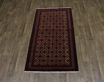 Enchanting Rare Pattern Tribal Balouch Persian Rug Oriental Area Carpet 3'4X6'6