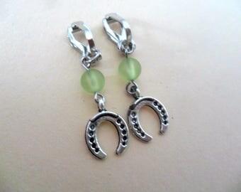 Clip earrings Horseshoe