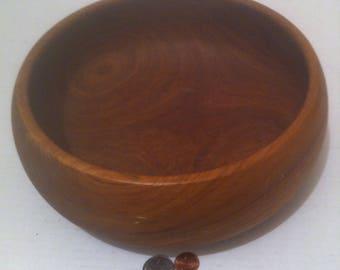 Vintage Wooden Bowl, Salad Bowl, Quality Hardwood Bowl, Dish, Serving, Made in Thailand, 10 x 4, Kitchen Decor, Shelf Display