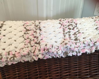 Ready to ship chunky baby blanket