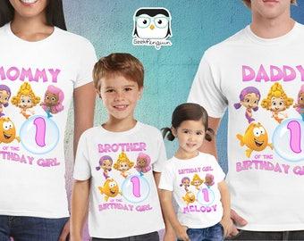 Bubble guppies Girls Birthday Shirt Custom personalized,  Birthday T shirt, Girls Bubble guppies shirt, Bubble guppies party, Bubble guppies