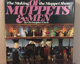 First Edition Copy of the Book Of Muppets & Men: The Making of the Muppet Show- 1981 Muppet Coffee Table Book
