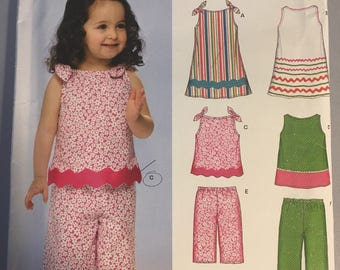 6719 New Look Kids Five In One Summer Ensemble Pattern  Size 6 mos - 4