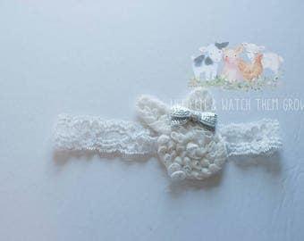 White Bunny Headband