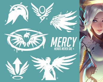 Mercy Overwatch Support Hero   Vinyl Decal Sticker, Overwatch, Blizzard, Gaming, 17 Colors, Oracle Long Lasting   SneakyStickers