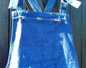 Vintage French Moleskin Dungarees Salopettes Trousers Bleu du Travail