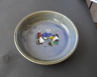 Vintage 1960s Armagh Ireland Wade Porcelain, Co Wade Irish Porcelain Bowl, Irish Country Scene 1600