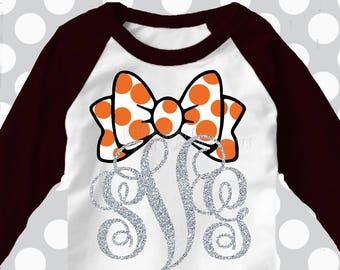 Halloween monogram svg, Halloween svg, Monogram svg, Halloween bow, girly, girl Halloween svg, SVG, dxf, EPS, printable iron on, cute svg
