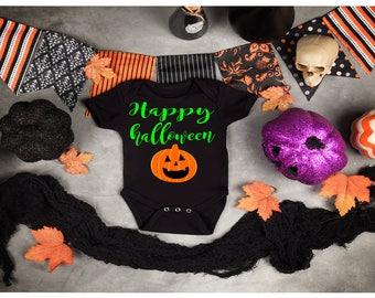 Baby boy halloween bodysuit, happy halloween boy bodysuit, boy halloween,baby halloween bodysuit