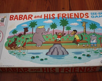 Babar and His Friends Board Game 1960 Milton Bradley Complete
