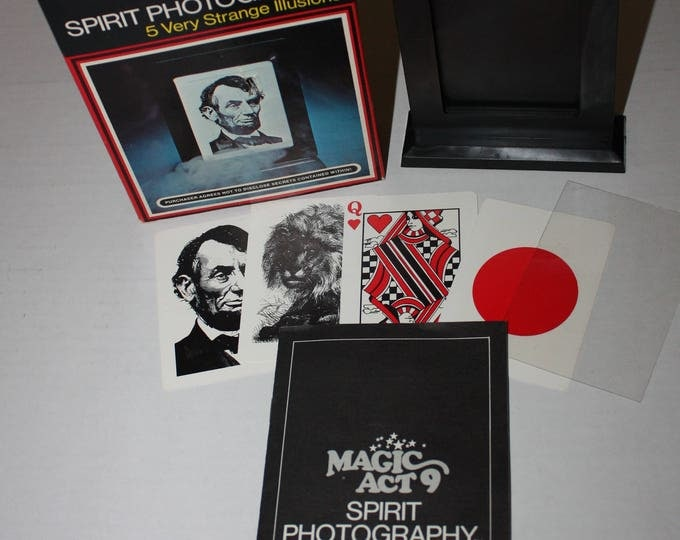 Magic Act 9 Spirit Photography Reiss Games 1975 Vintage RARE