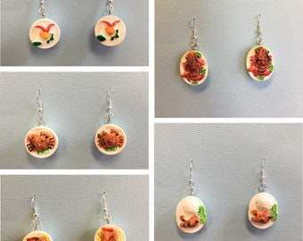Seafood Bowl Earrings