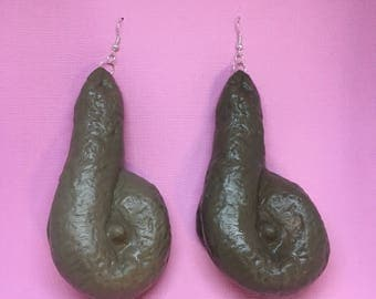 Poop Earrings