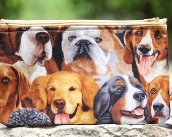 For the Love of Dogs Flat Pouch