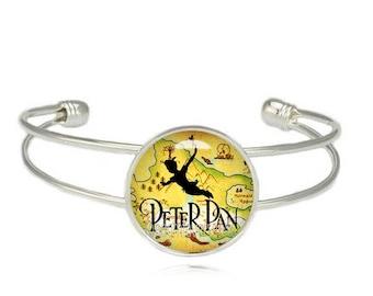 Peter Pan Cuff Bangle Peter Pan Bracelet Peter Pan Jewelry Fangirl Fanboy