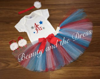 Fourth of July, Fourth of July tutu, Fourth of July tutu set, 4th of July tutu set, 4th of july tutu, Independence Day,