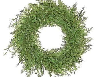 ESE Mixed Fern wreath, 24""