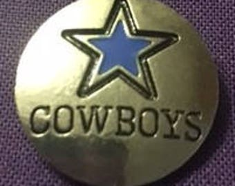 Metal Cowboys Snap for all 18mm Interchangeable Snap Jewelry
