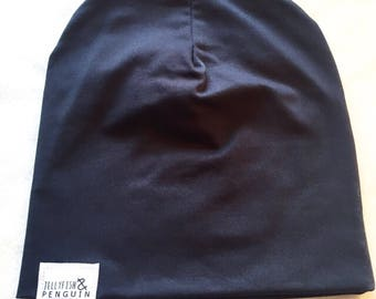 Ink (dark navy) handmade beanid hat (other colours and sizes available )