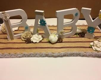 Baby shower center piece