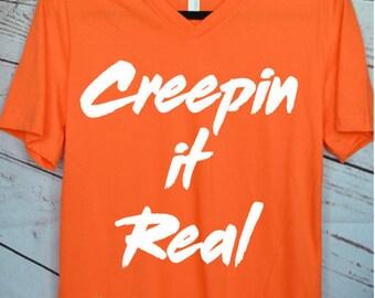 Halloween T-Shirt-Creepin it REAL-Fall-- Creep it Real