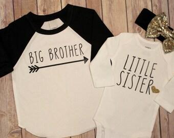 Big Brother shirt, little sister shirt, Big Sister Little brother shirt set. Big Brother, Little Sister, Big Brother, Little Sister, Big Bro