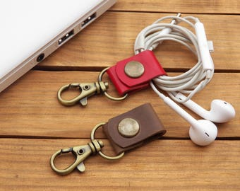 earphone holder leather cable organizer cord keeper leather heaphone cord organizer leather organizer cable holder cord