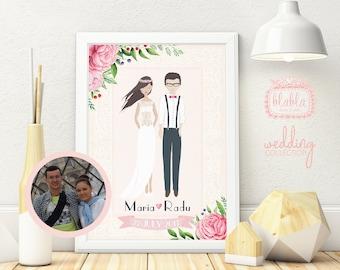 Personalised Wedding Gift, Personalised Wedding Print, Custom Wedding Print, Wedding Gift, Custom Wedding Gift