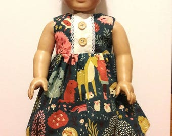 """Handmade 18"""" Doll Clothes-  Dress fits American Girl Doll"""