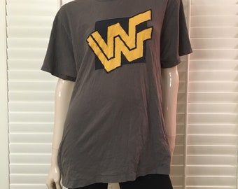 WWE (old school graphite block) T-shirt
