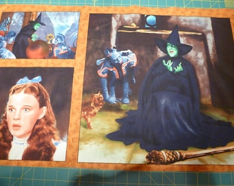 wizard of oz last one avail 3 picture fabric panel