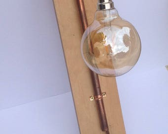 Wall mounted retro copper light