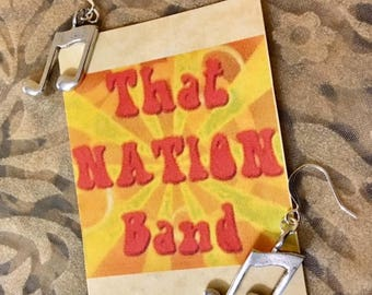 That NATION Band Musical Note Earrings