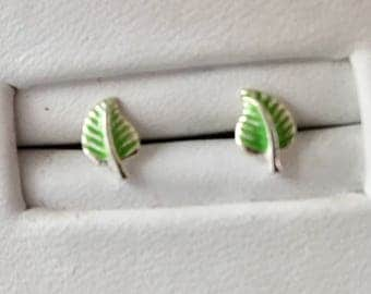 Sterling Silver Leaf Earrings