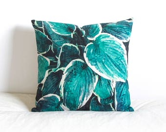 Tropical Leaf Pillow Cover, Pillow Covers, Throw Pillow, Cushion Cover, Decorative Pillow Cover, Cushion Cover, Gift