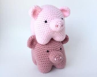Crochet amigurumi pattern: Pig