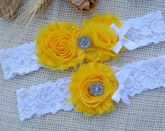 Garter Set, Yellow Garter, Bridal Clothing Yellow, Garters Yellow, Garter For Brides, Romantic Garter, Lace Garter Set, Yellow Keep Garter