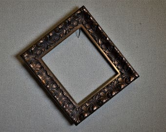 6 x 7 Ornate Gold Picture Frame Complete Kit with Glass and Custom Cut Matting