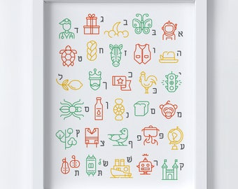 Everything from Aleph to Tav | Educational Art Print