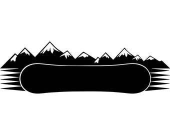 Snowboarding Logo #9 Snowboarder Snow Board Skiing Helmet Google Mask Winter Extreme Sport .SVG .EPS .PNG Clipart Vector Cricut Cut Cutting