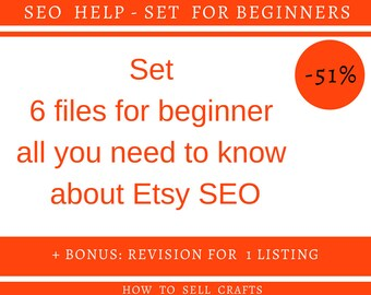 Sell on etsy How to sell craft Seo Sell items Etsy books New seller Etsy store Seo Etsy How to sell item Starting on Etsy Seo book Seo Guide