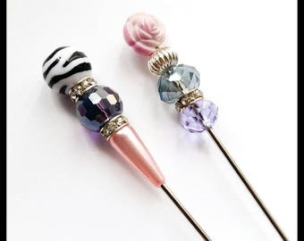 Sale~Clearance~2PCS 6 Inch Long Sturdy & Thick Hat Pin Set