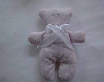 Pooh Facontilda fabric Pink White hearts filled with Lavender
