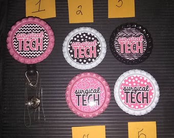 Surgical Tech retractable badge holder!