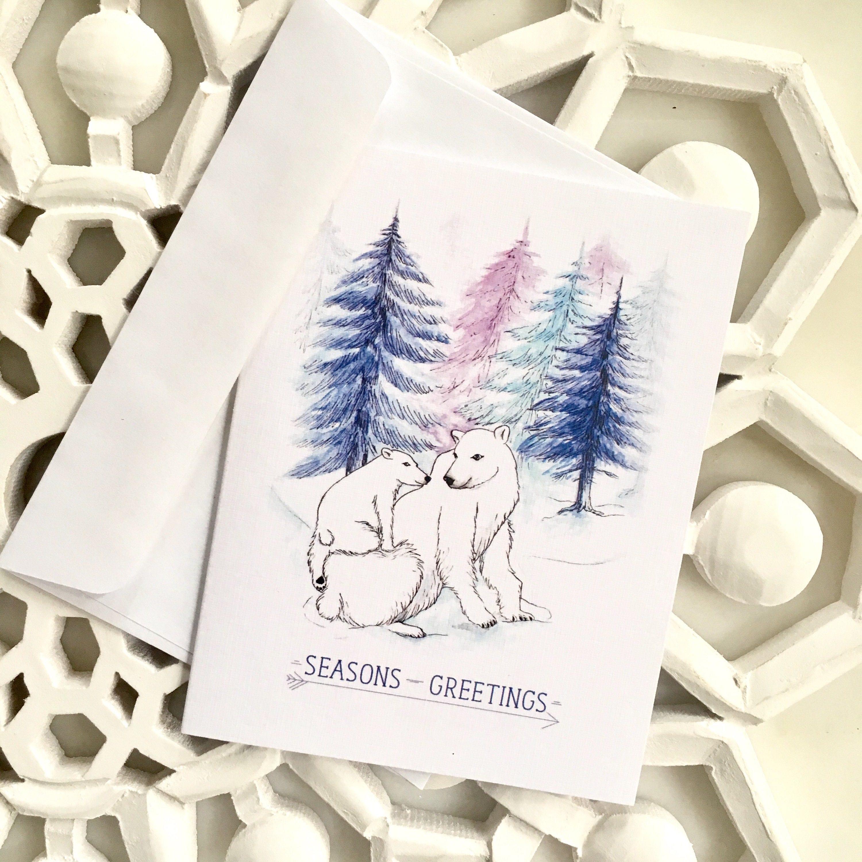 Polar Bear Christmas Cards Seasons Greetings Holiday Cards Boxed