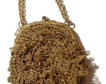 Vintage Walborg Gold Looped Purse
